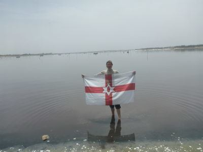 Northern Ireland flag at Lac Rose