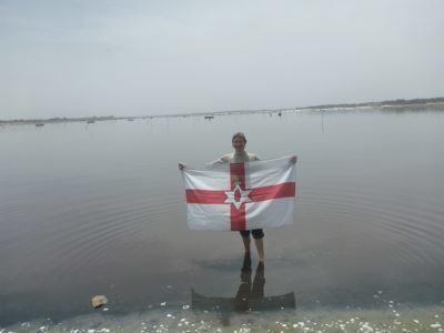 Northern Ireland flag at Lac Rose