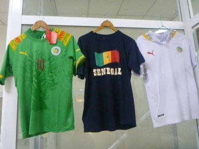T shirts and football shirts from Senegal