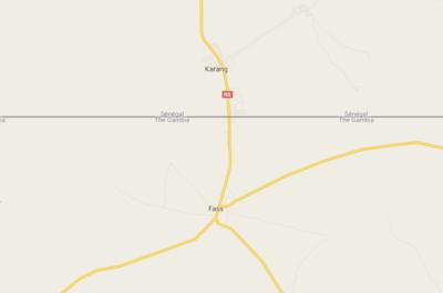 Senegal Gambia border Karang to Fass