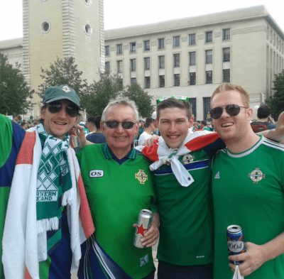 The Blair GAWA in Lyon watching Northern Ireland v. Ukraine.