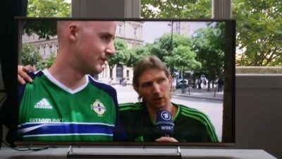 Yesterday's time on German TV