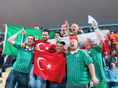 Some of our wee group of 18 Northern Ireland fans who made it to Turkey in 2013.