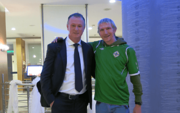 Jonny Blair and Michael O Neill in Adana Turkey