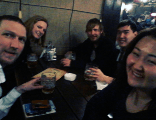 Night out in Pinta Pub, January 2016