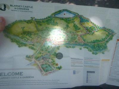 A map of Blarney Castle and Gardens