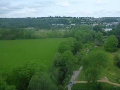 On the way to the top of Blarney Castle
