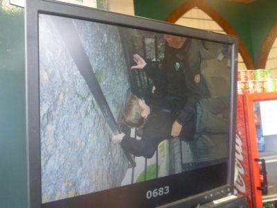 Getting ready to kiss the Blarney Stone