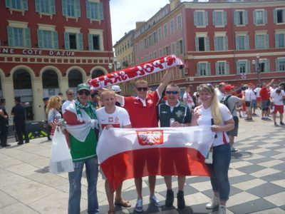 With some Poland fans in Nice