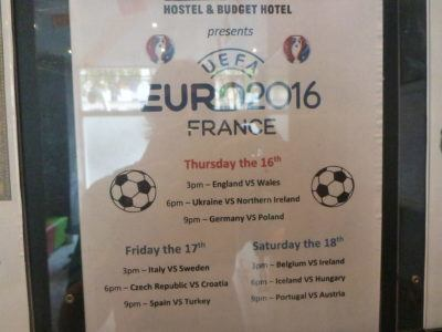 Football on at Le Regent