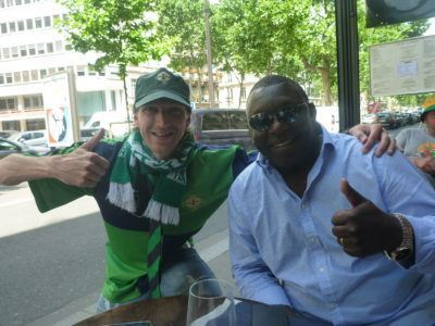 Garth Crooks and I in Paris - BBC football pundit