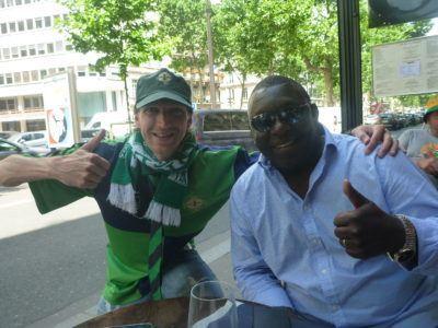 Garth Crooks and I in Paris - BBC football pundit