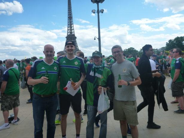 Andrew, Matthew, Gavin and I before the Wales match in Paris