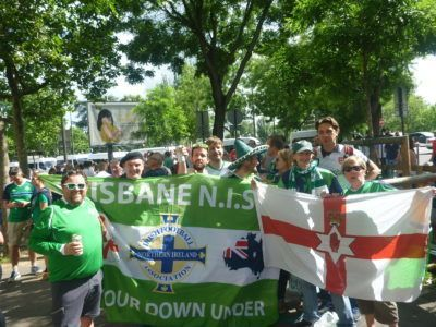 With Owen Millar from Brisbane NISC and some long time room mates and party mates down the GAWA years
