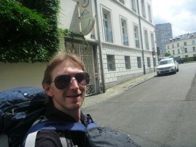 Arrival at the Jacques Brel hostel in Brussels