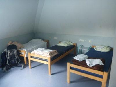 My dorm room at the Jacques Brel hostel, Brussels