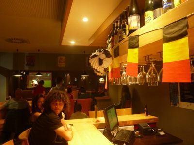 Bar at the Jacques Brel Hostel