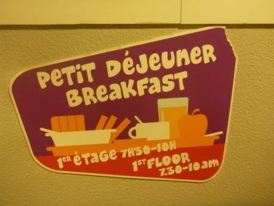 Breakfast at the Jacques Brel Hostel