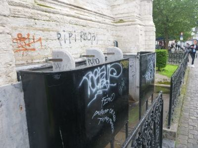 Urinals on the side of St. Catherine's Church