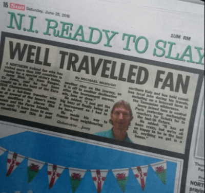 Yesterday's news - The Sun newspaper