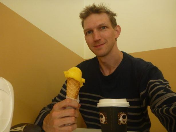 Klaudia at Wrzoskiewicz Ice Cream Parlour