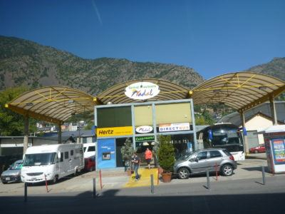 Bus station in Andorra La Vella