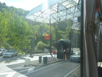 Andorra to Barcelona - the border