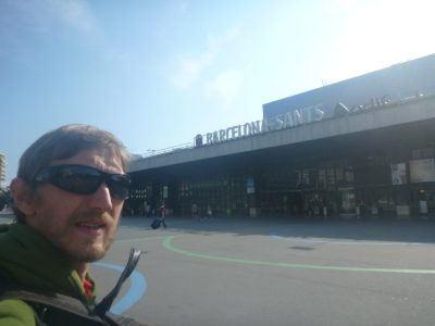 Arrival in Sants, Barcelona