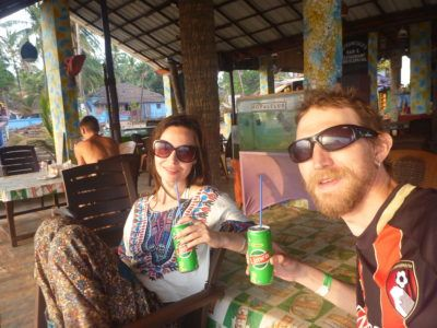 Ilona and I tour India together