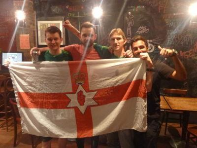 The Ulster boys and I in the hostel
