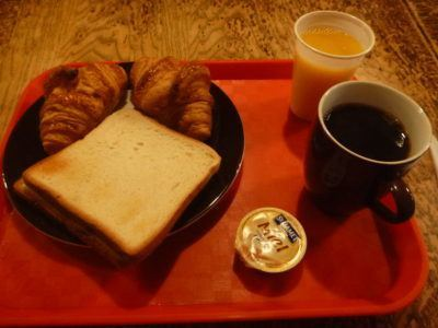 Free breakfast at Young and Happy Hostel