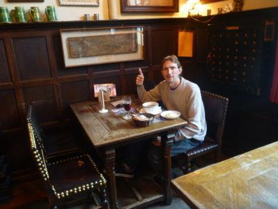Dining out in Cafe Vlissinghe, oldest pub in Bruges