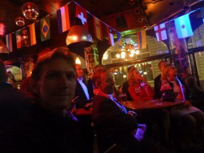 Watching the nervy Poland v. Portugal penalty shoot out at Charlie Rockets Bar