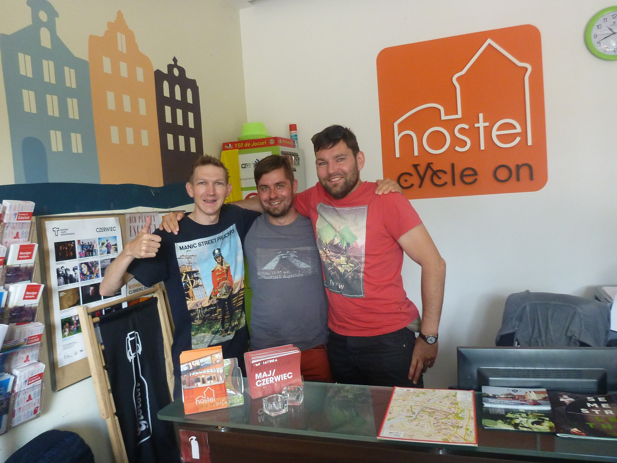 Backpacking in Poland: Staying at Hostel Cycle On in Gdańsk