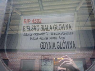 Train from Gdańsk Glowny to Gdynia Glowna