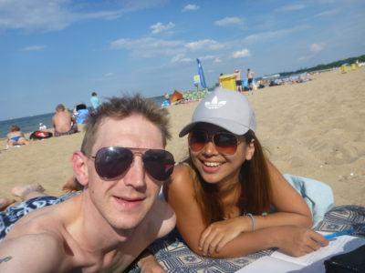 Mika and I on Sopot beach