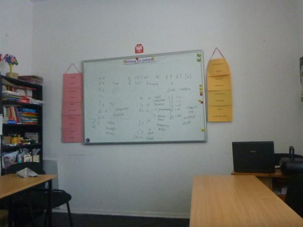 My classroom for learning Polish in Gdańsk