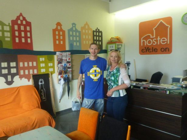 At Hostel Cycle On with Ludmila