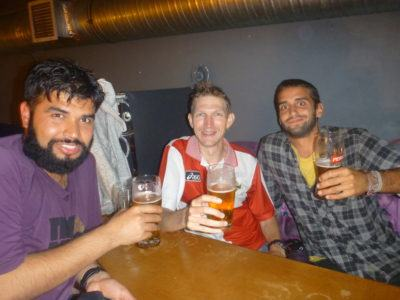 A night out in Cafe Szafa with Dewan and Jack