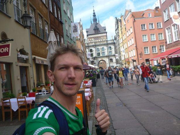 Downtown Gdańsk.