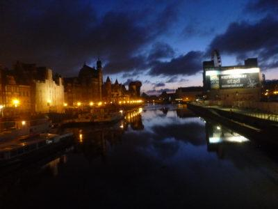 Nightfall in Gdańsk.