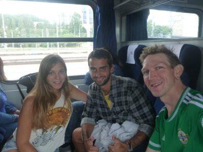 Backpacking north to Leba with Marina and Jack