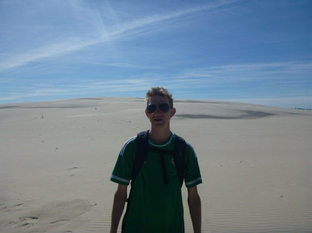 Touring the sand dunes at Słowiński National Park near Leba.