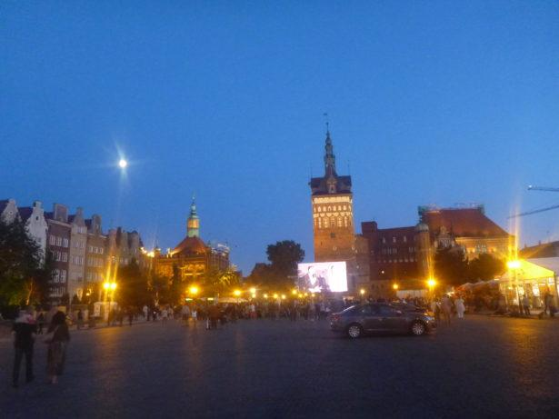Twilight in Gdańsk.