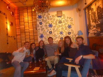 Hostel night out at Jozef K Bar