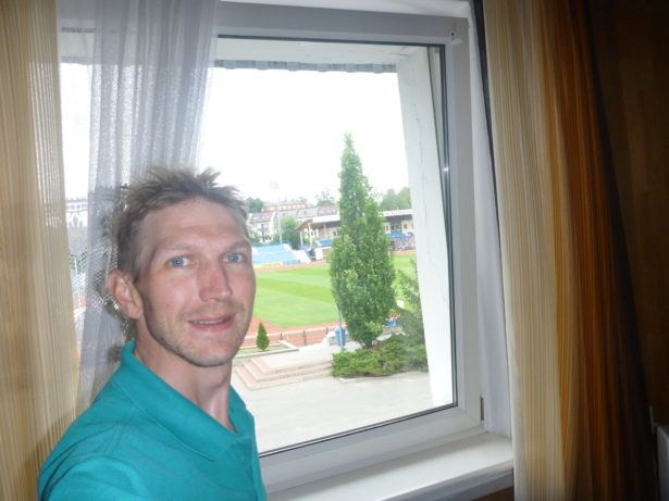 Kazimierz Deyna Stadium - I can see the pitch from my window!