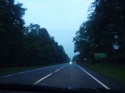 The drive to Rywałd