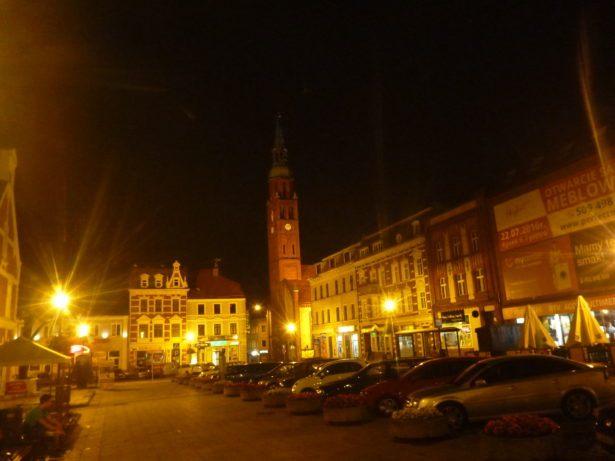 The Rynek (Main Square) at night.