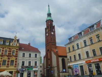 Kościół sw Katarzyny (St. Catherine's Church) viewed from the Rynek