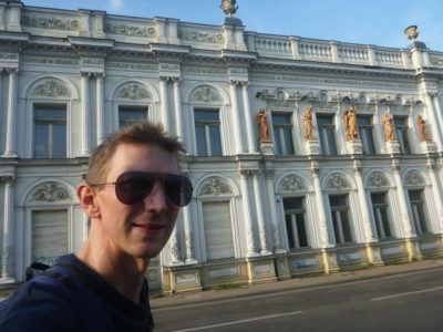 Backpacking at Pałac Wichertów, Starogard Gdański